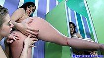 Lesbian Jelena Jensen getting anal fingered