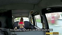 Horny Blonde Sienna takes a free ride on a horny cab