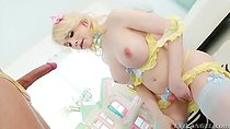 blonde shemale Sarina Valentina And Spencer Fox clip3