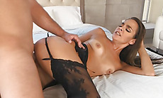 Bobbi Rydell gets fucked hard with her stockings on