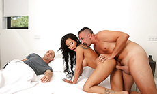 Keiran Lee romping Amia Mileys pussy doggystyle