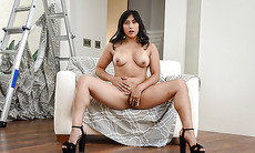 Asian sexy babe Mia Li juicy pussy gets a hard fuck