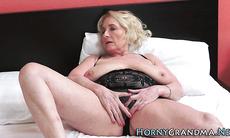 Granny whore gets facial