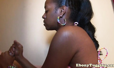Bigass black amateur tugging white meat pov