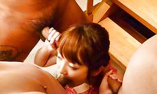 Maomi Nakazawa gives a group a japanese sex blow job - More at javhd.net