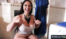 Huge boobs Czech girl fucked for money