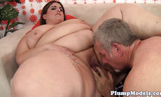 Busty plumper fucked on all fours after oral