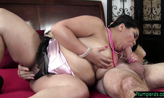 BBW beauty getting doggystyle banged