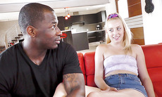 Melody Parker Works Her Friend's Big Black Cock
