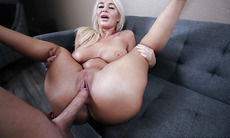 Horny stepmom got pounded on a couch