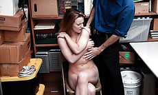 Shoplifters associate caught and fucked