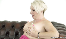 Sexy Blonde Granny Loves Fucking Hard