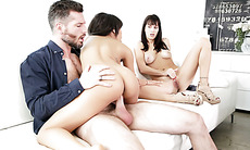 Wife watching husband fucking his whore