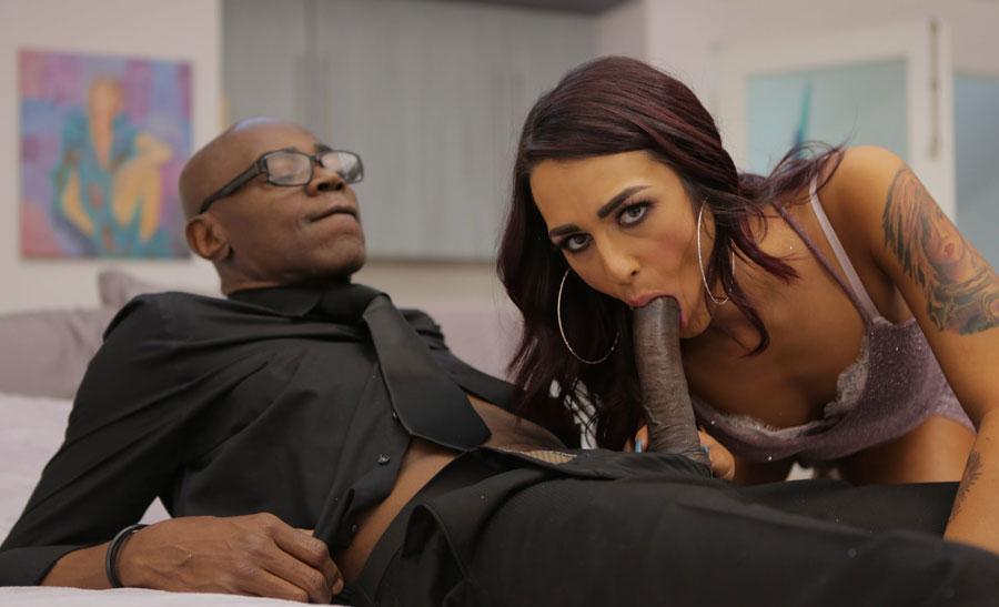 Shemale khloe kay enjoys dudes big cock banging her ass