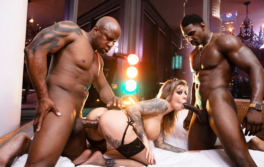 2 Bbw Threesome Interracial