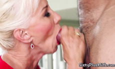 Marvelous old blonde fucked in the ass