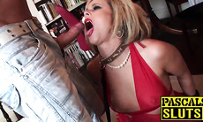 Submissive Anna Joy anal fucked and cum sprayed into mouth